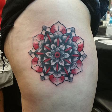 mandala tattoo dallas black red mandala by cody hennings tattoos