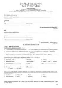 calam 233 o contrat de location bail d habitation de locaux
