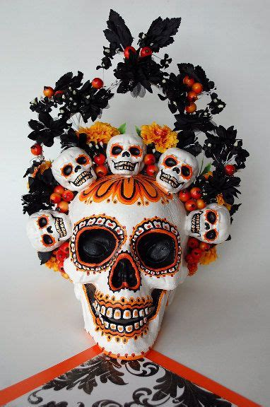 halloween o dia de muertos 191 qu 200 festejas la voz de los large day of the dead halloween skull decoration by