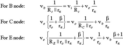 transistor lifier equations basic bjt lifier configurations
