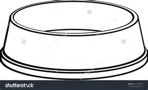 dog bowl clipart black and white clipartsgram com