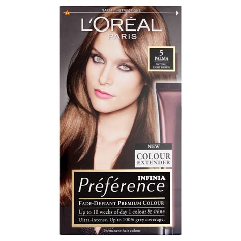 hair coloring products l oreal preference infinia 5 palma light brown