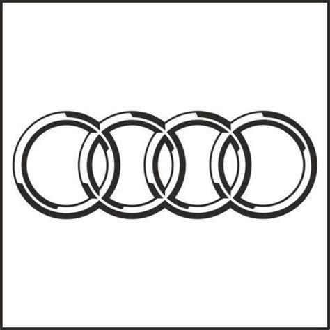 Aufkleber Audi Ringe by Audi Rings Sticker Ebay