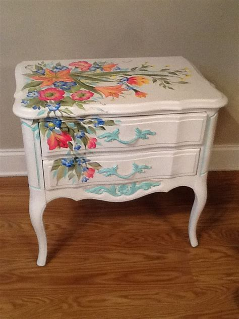 Decoupage Wood Furniture - the 25 best floral painted furniture ideas on