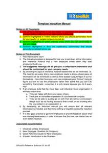 Induction Template Document by Sle Induction Manual Hashdoc