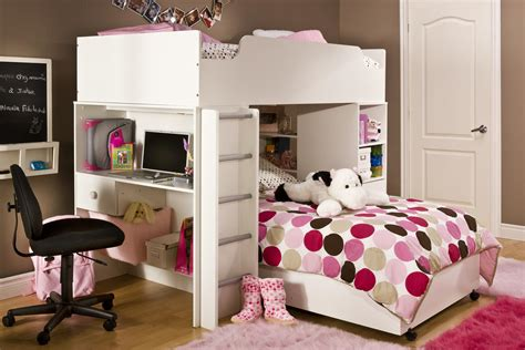 cute bunk beds bedroom cute white twin loft bed with pink polkadot