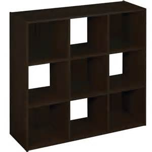 Walmart Closetmaid Closetmaid 9 Cube Laminate Organizer Espresso Closetmaid