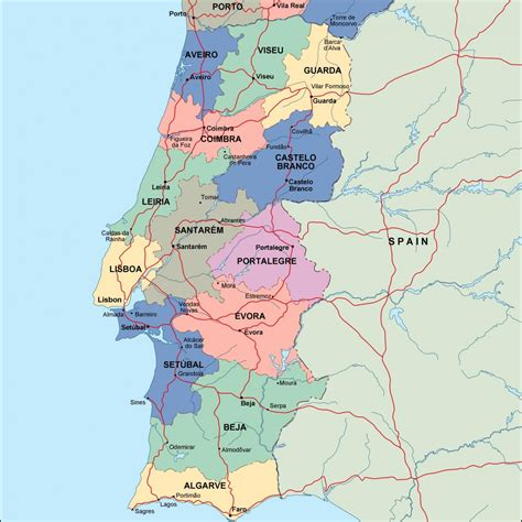 maps maps maps portugal map political