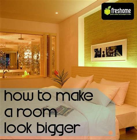Making A Small Room Look Bigger | 5 tips for fooling the eye and making a room look bigger