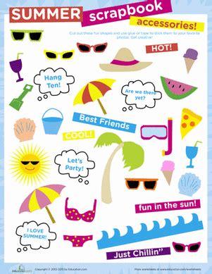 Do My Esl Paper by Summer Scrapbook Accessories Worksheet Education