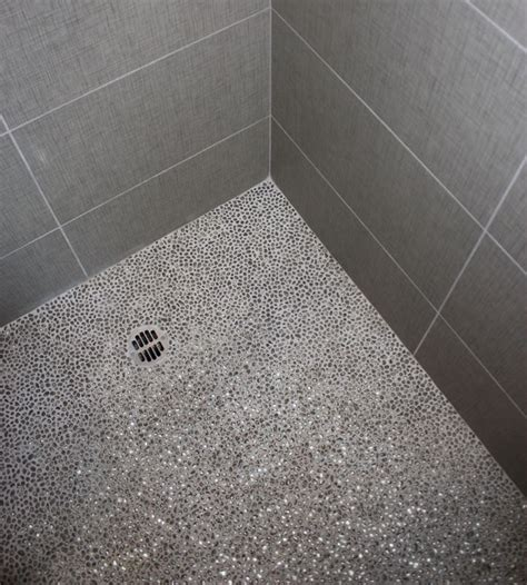 grey pebble tiles bathroom shower floor idea gray mosaic tile bath remodel
