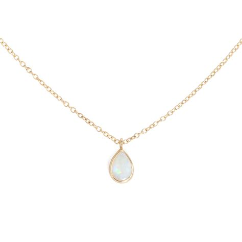 opal teardrop necklace catbird