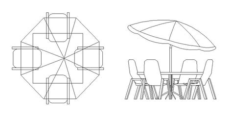 Patio Table Dwg Free Cad Symbol Patio Table And Chairs Cadblocksfree