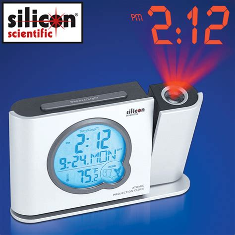 Alarm Clock That Projects Time Onto Ceiling by Atomic Projection Clock Ebay