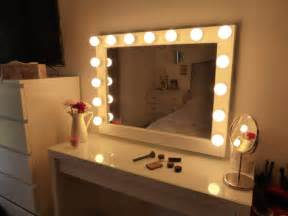 Makeup And Vanity Set A Glowing Light A Promise Lighted Vanity Mirror Large Makeup Mirror With