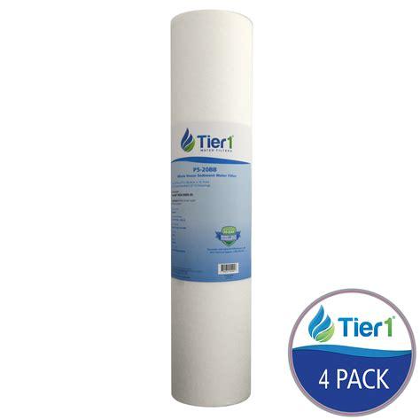 Pp Sedimen Spun Cartridge Water Filter Nanofilter 20 Inch 20 x 4 5 inch 5 micron spun wound polypropylene sediment water filter 4 pack ebay