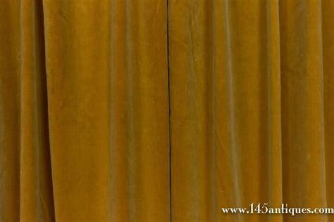 gold velvet drapes pair of gold velvet drapes for sale at 1stdibs