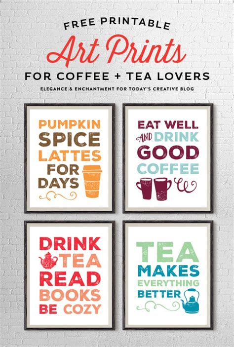 printable art shop free printable art prints for coffee and tea lovers