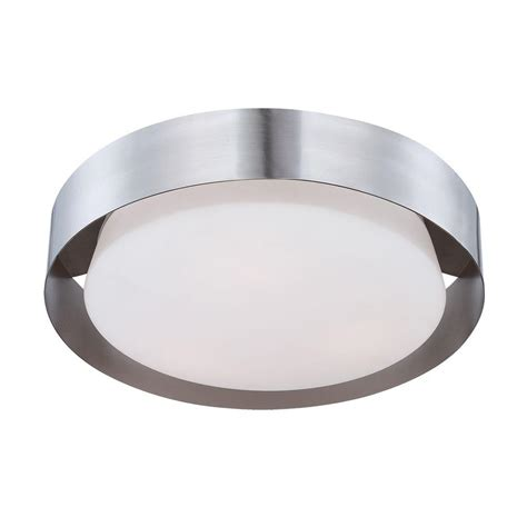 satin nickel flush mount ceiling light maxim lighting profile ee led 1 light satin nickel
