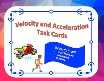 Can I Use A Limited Gift Card At Victoria S Secret - velocity and acceleration task cards word problems graphing physical science word