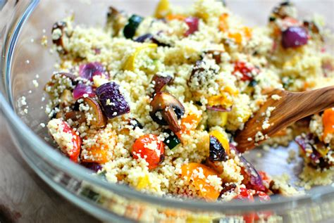 Hot Roasted Vegetables With Couscous Recipe — Dishmaps