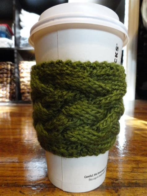 free knitting pattern coffee cup sleeve 17 free and easy knitting patterns for beginners