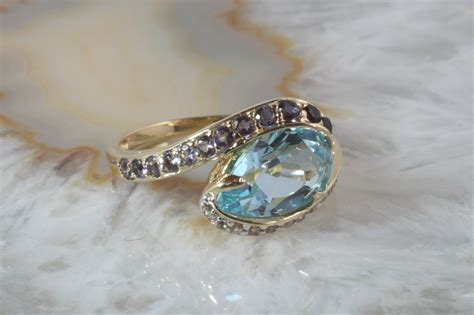 Ringe Gã Nstig by Ring Gold 585 Blautopas Second