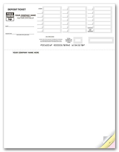 Printable Deposit Slips For Quickbooks