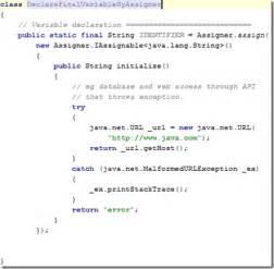 pattern variables java declaring final variables elegantly using the assigner