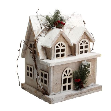 Decorative Figurines For Home large wooden house christmas decoration model christmas