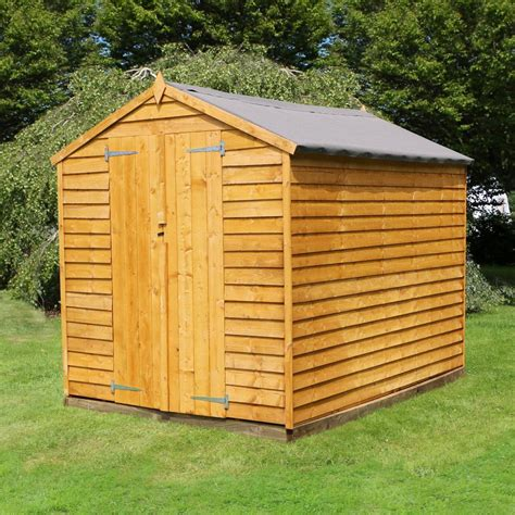 Garden Shed Doors Sale by 8x6 Overlap Wooden Garden Shed Door Apex Roof