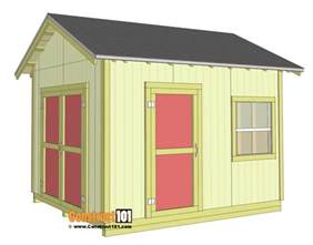 10x12 Shed Plan by Shed Plans 10x12 Gable Shed Step By Step Construct101
