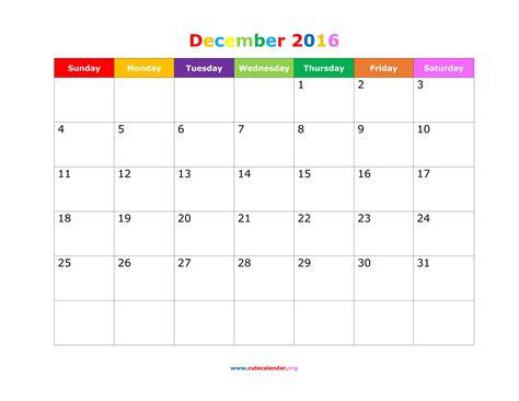 cute printable planner 2016 pdf december 2016 calendar cute weekly calendar template