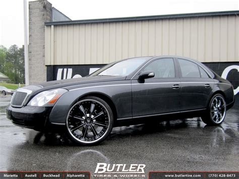 maybach 57s with 24in savini bm5 wheels exclusively from