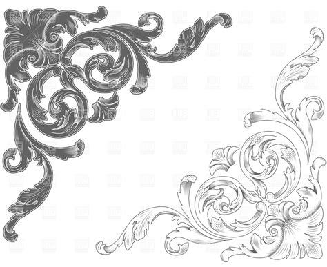 filigree clip art continue reading set of floral 8 filigree corner designs images abstract floral corner