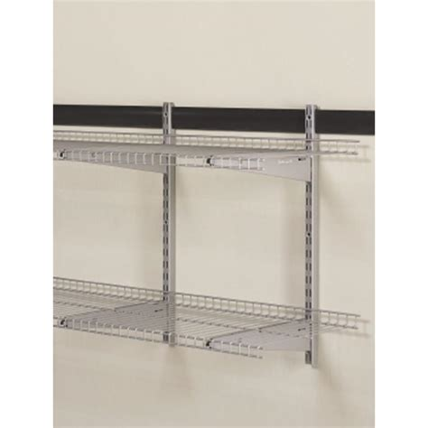 Rubbermaid Garage Shelving Simple Garage With Rubbermaid 48 X 16 Inch Fasttrack