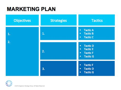 marketing strategy plan template free marketing strategy template argentum strategy