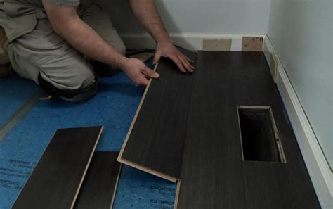 dark grey laminate flooring for modern masculine men