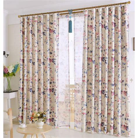 floral country curtains chic european patterned beautiful country style floral