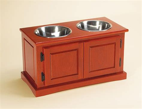 dog feeding station cabinet diy advanced woodworking dog food water bowl holder this