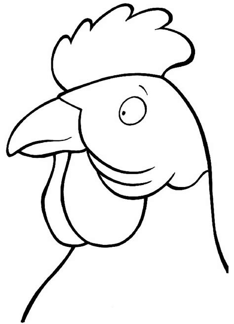 imagenes de gallinas faciles para dibujar cabeza de gallo con cresta para colorear teby y tib