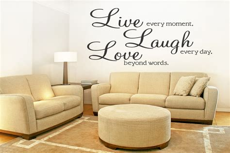 live laugh removable wall quote decal sticker wall
