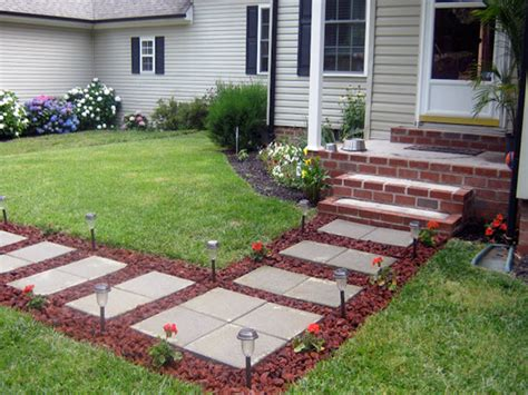 cheap paving stones paver front porch ideas front yard