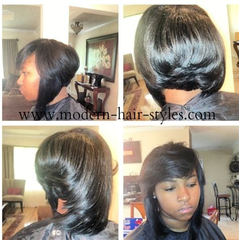 black women feathered bob weave weave bob hairstyles for black women picturesgratisylegal