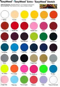 siser easy color chart easyweed by siser