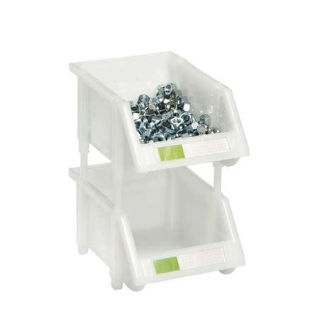 stacking bin white stackable bins  label holder