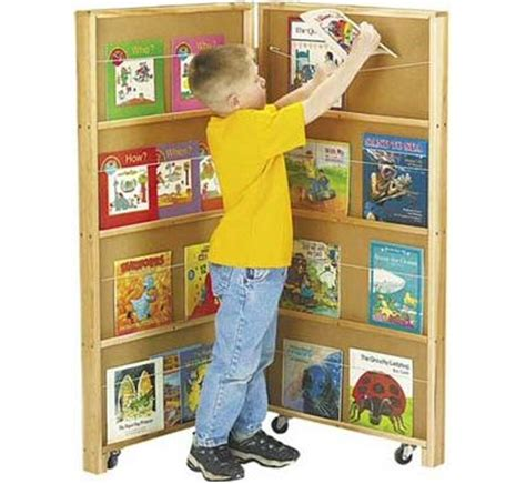 wall book display for daycare centers preschool and classroom