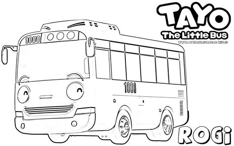 tayo bus coloring page tayo the little bus free colouring pages