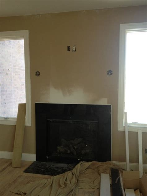 fireplace without mantle - Fireplace Without Mantle