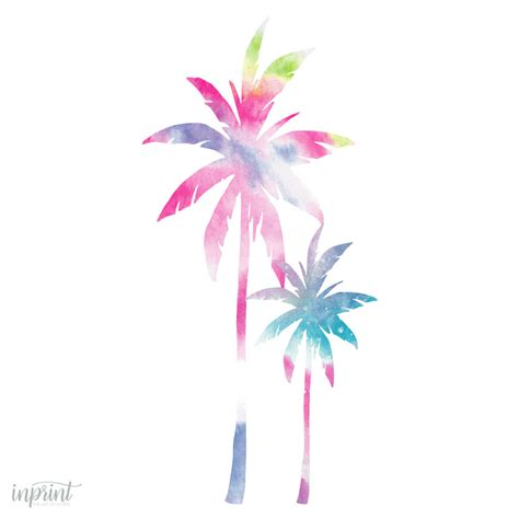 colorful palm tree print downloadable print instant pdf